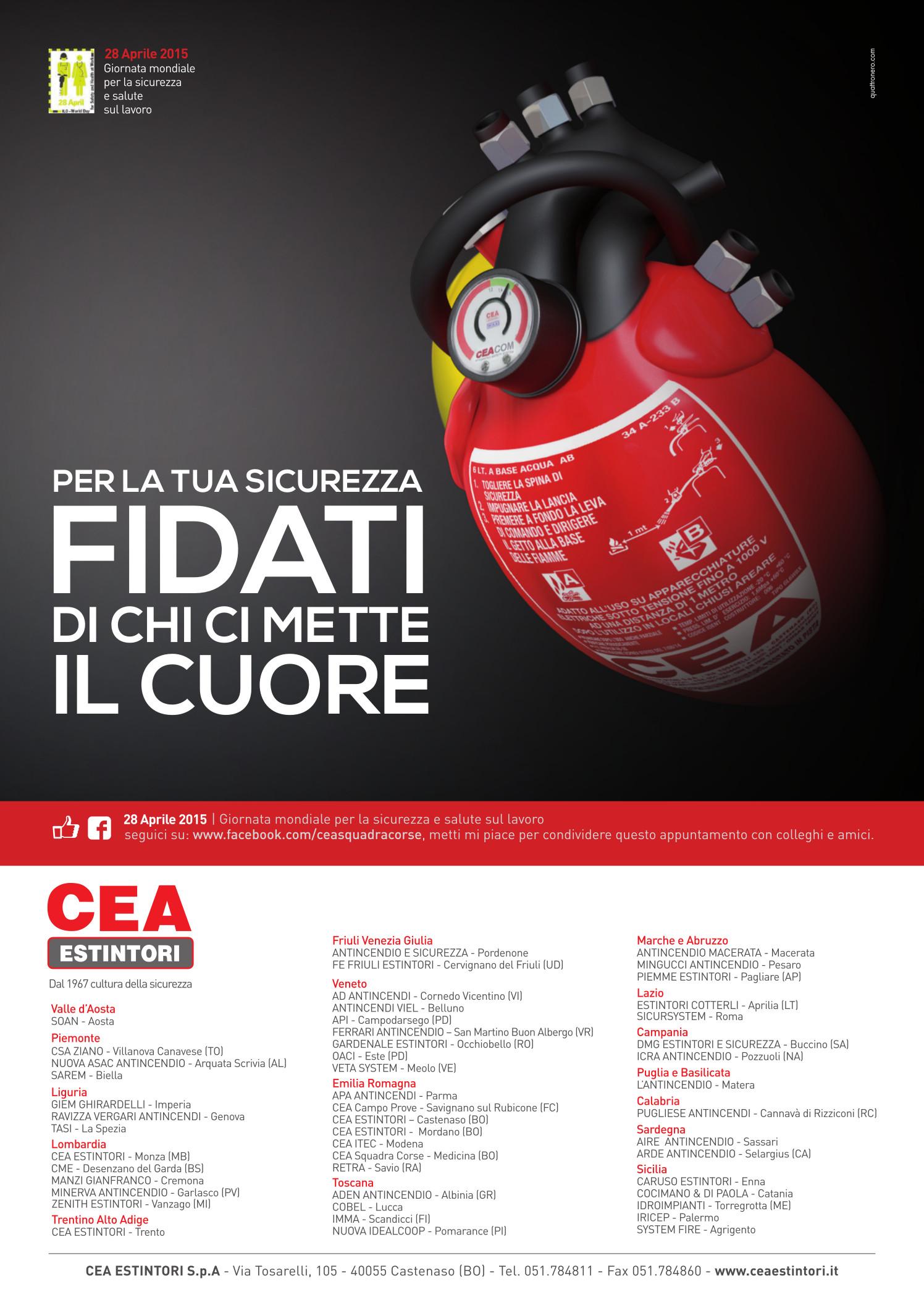 Mondiale della sicurezza e salute sul lavoro | www.ceaestintori.it